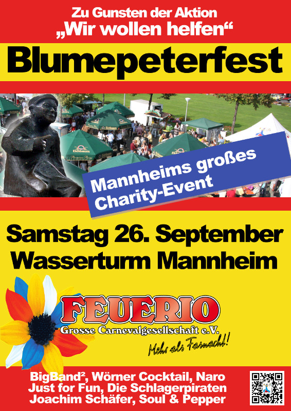 Layout Plakat Blumepeterfest 2015